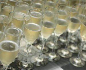 Champagne pour un mariage